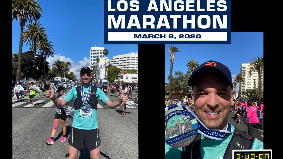 Belle performance de Clément Devouassoud au marathon de Los Angeles 2020 !